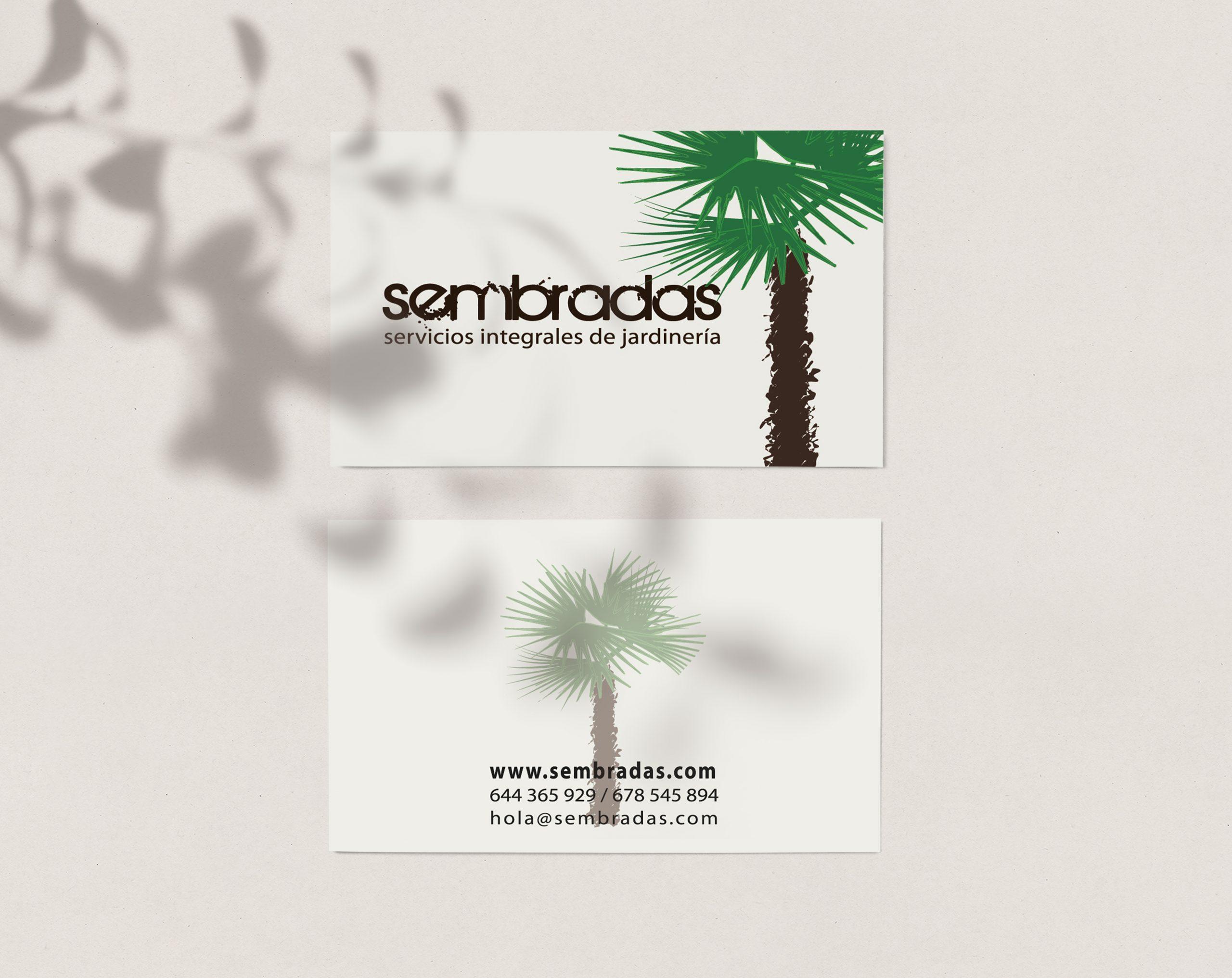 Logotipo para empresa de jardineria en Sevilla, Sembradas, by DSMK