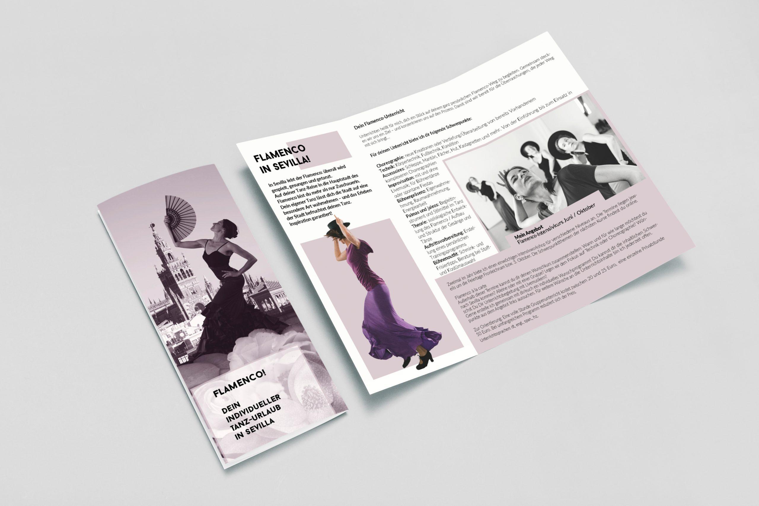 Tríptico espectáculo flamenco, Carina la Debla, by DSMK