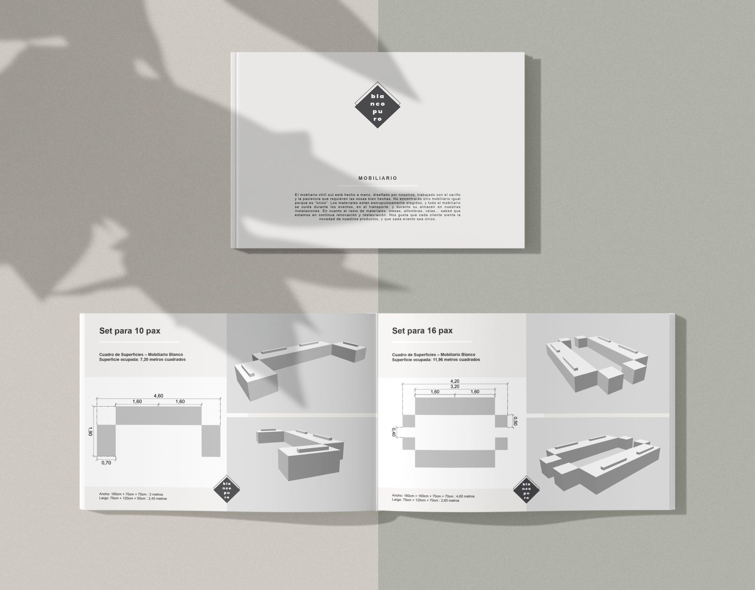 Diseño catálogo productos empresa, Blancopuro, by DSMK
