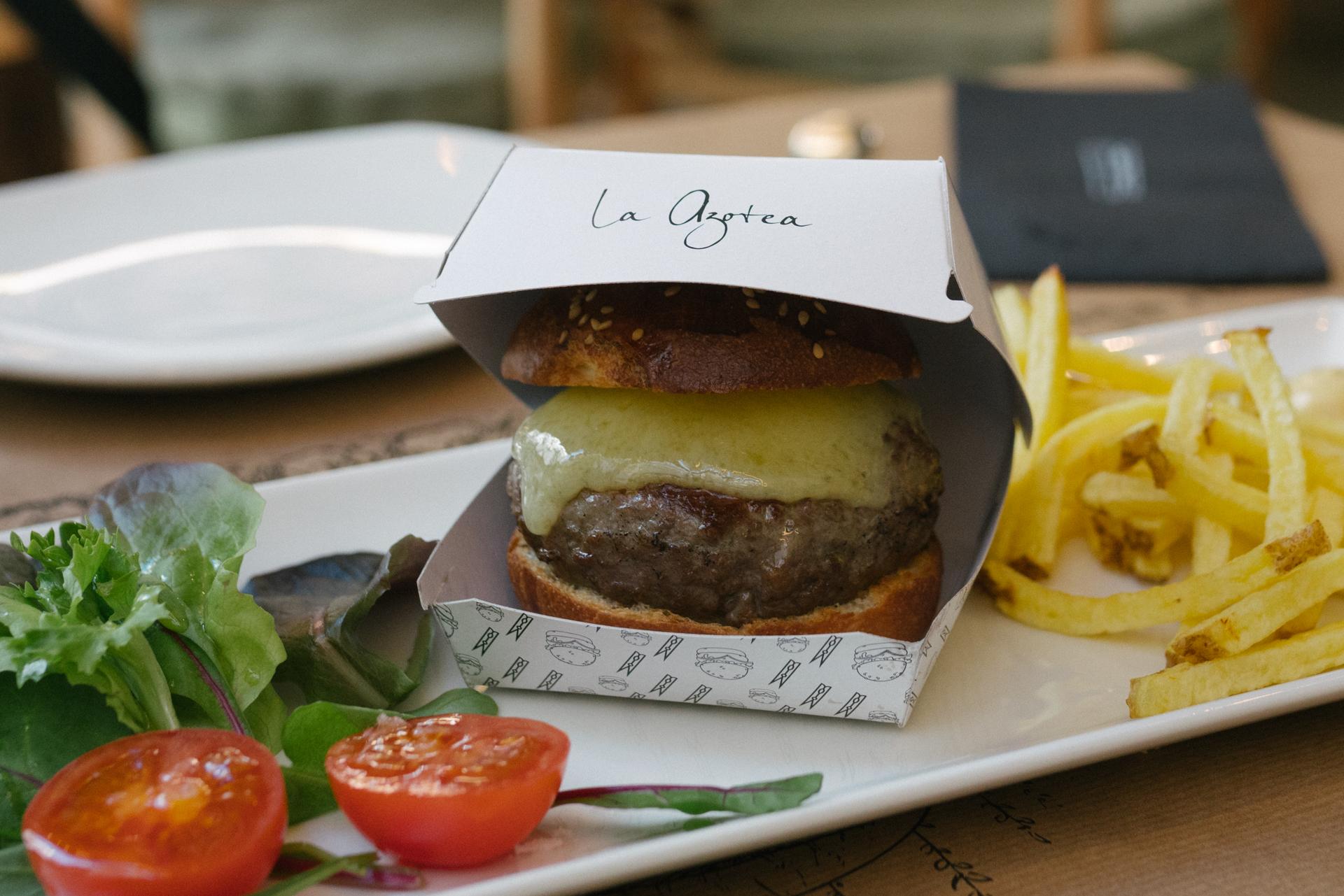Packaging mini hamburguesita restaurante La Azotea by DSMK